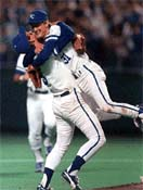 1985 Kansas City Royals George Brett and Bret Saberhagen