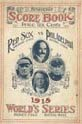 1915 World Series Program