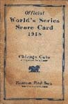 1918 World Series Program