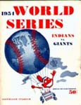 1954 World Series Program